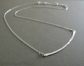 Sterling Bar Necklace - E...