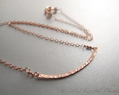 Rose Gold Bar Necklace - ...