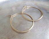 Gold Hoops - large hoop e...