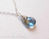 Aquamarine Necklace - Sil...