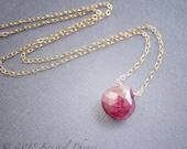 Genuine Ruby Necklace - J...