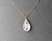 Rose Quartz Necklace - Pa...