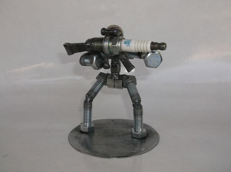 On Sale Hunter, Sharp Shooter, AR15 Metal Bolt Figurine, Upcycled Art