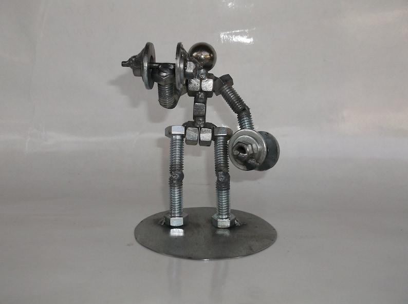 Auf Verkauf Hantel Gewichtheber Metall Schraube Figur Etsy