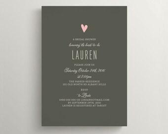 Printable Bridal Shower Invitation \ Wedding Shower Invitation \ Baby Shower Invite (BR127)