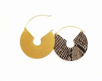 Bronze Semi hoops