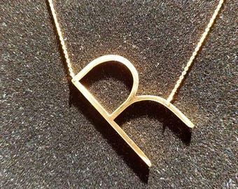 Gold Initial Pendant