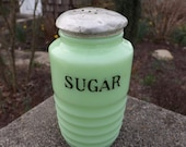 Jeanette jadeite concentric circle sugar shaker - 1930 39 s