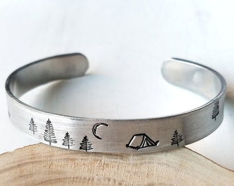 Camping Bracelet, Tent Camping Jewelry, Happy Camper Gift
