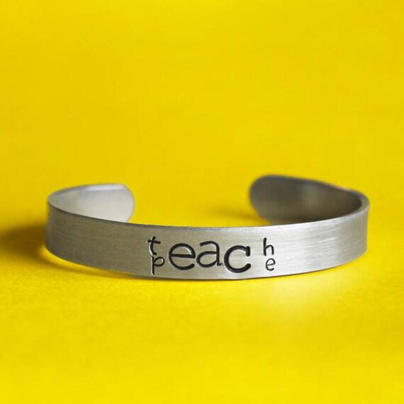 Teach Peace bracelet, Positive Quote, Motivational Message, Love Each  Other, Coexist