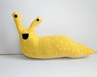 Yellow Banana Slug Plush / Yellow Stuffed Animal Banana Slug Plush