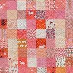 Coral and Pink Custom Made Patchwork Quilt for Lucy
