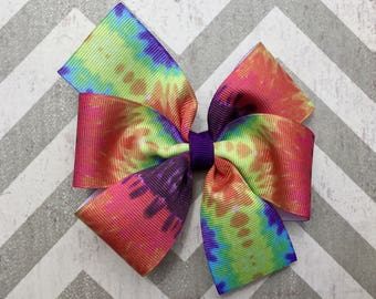 Tie Dye Hair Bow
