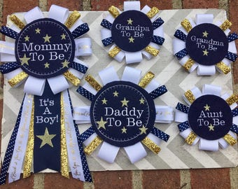 Twinkle Twinkle Little Star Baby Shower Corsages