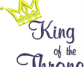 Machine Embroidered Toilet Paper -  King of the Throne or Queen of the Throne