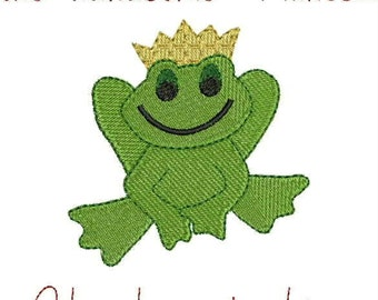 Embroidered Dish Towel or Hand - Before you meet the handsome Prince... you have to kiss a lot of frogs!
