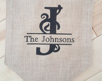 Machine Embroidered Burlap Flag for your yard or home!