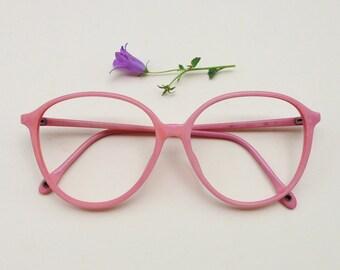 8f73cca3911 Vintage pink frames   80s pale pink eye glasses   plastic Italian pastel  sunglasses   Hipster women s eyewear   rose eyeglasses