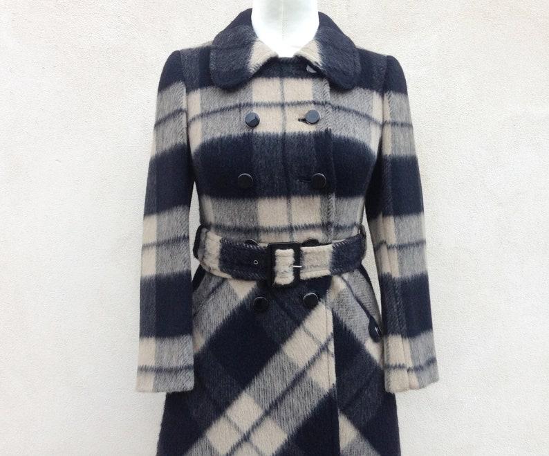 Cappotto da donna tartan plaid Vintage anni 60   cappottino  c8e5c77f32da