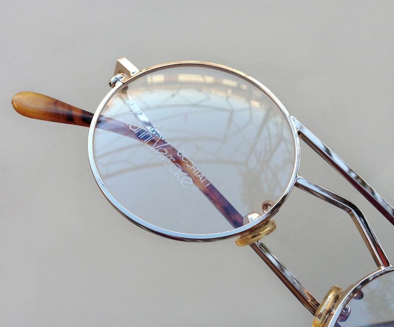 fa12c0b25c6a GIANNI VERSACE eyeglasses   80s vintage round double bridge