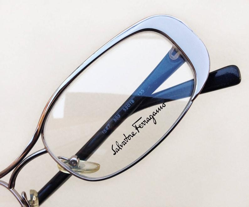 c6f626d0aa201 SALVATORE FERRAGAMO Vintage lunettes à montures neuf Années 90
