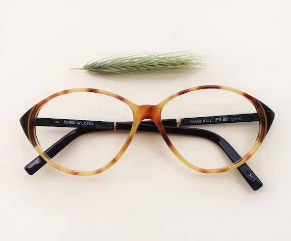 bf7a0563ad3 FENDI by LOZZA Cat-Eye Frames   Vintage 80s deadstock logo