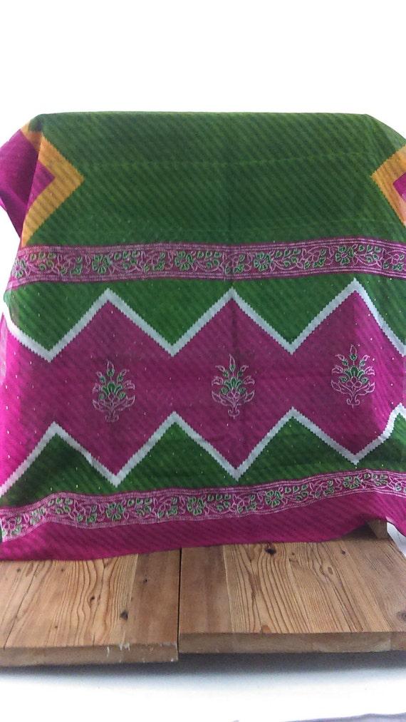 Vintage Silk Organza Dupatta
