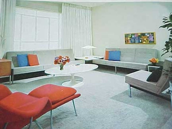 1962 MID CENTURY MODERN Design for Modern Living decorating book Hatje