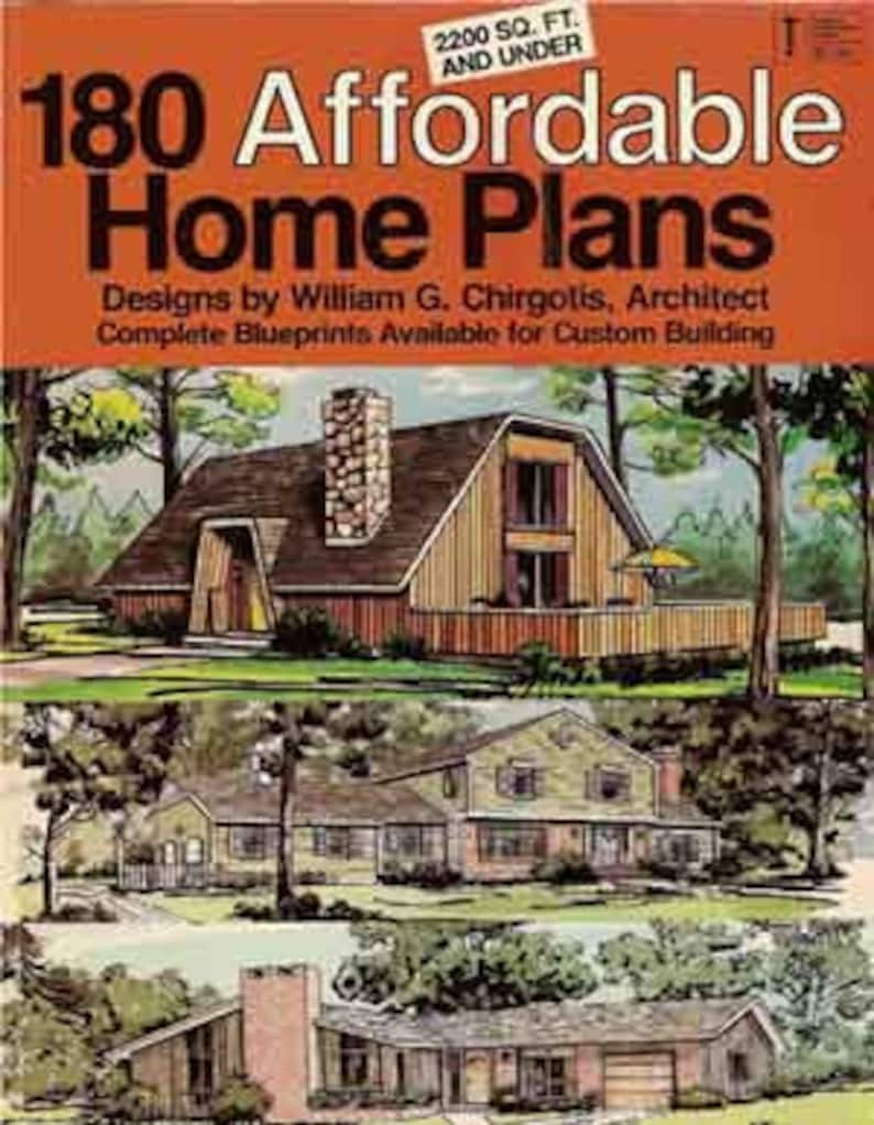 180 AFFORDABLE HOME PLANS Mid Century Modern House Plans ...