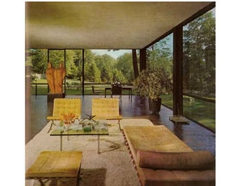 Inside Today's Home Ray and Sarah Faulkner 1968 60s Mod Huge Mid Century Modern Design Book