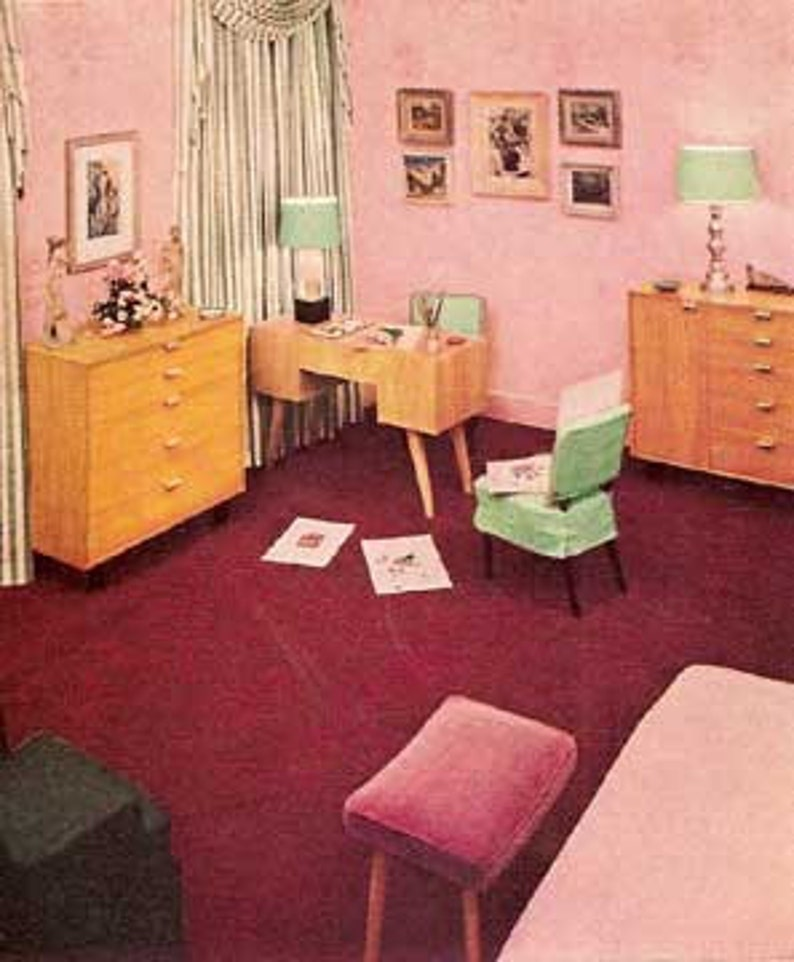 1946 MID CENTURY MODERN home decorating Rockow book Heywood image 0