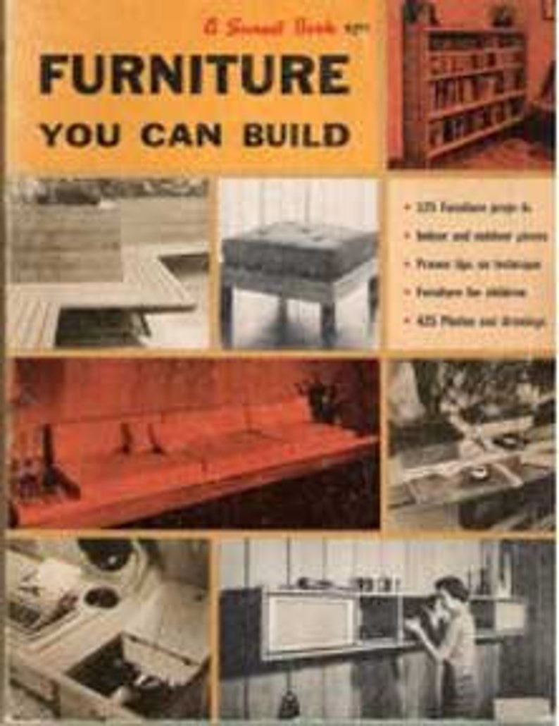 1960s MID CENTURY MODERN Furniture You Can Build design plans image 0