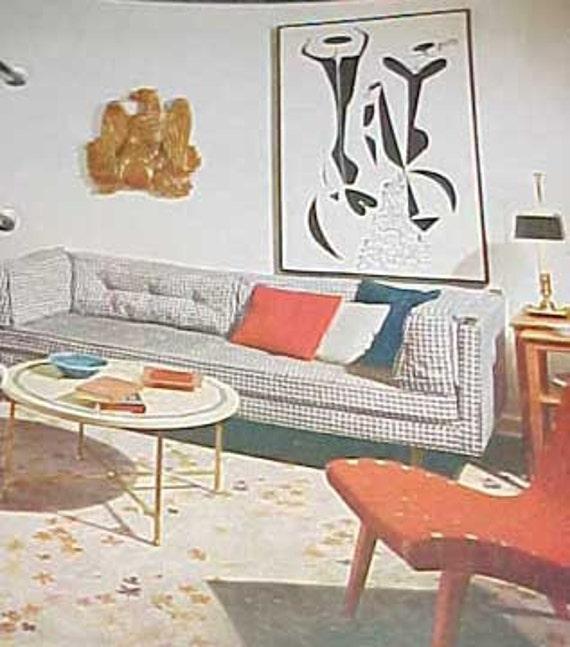 1956 Mitte Jahrhundert Moderne Dekoration Buchen Sie Besser | Etsy