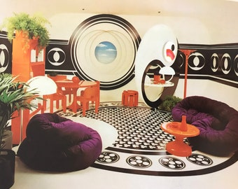 Bloomingdale's Book of Home Decorating Barbara D'Arcy MID CENTURY MODERN Space Age Mod decorating book 1973