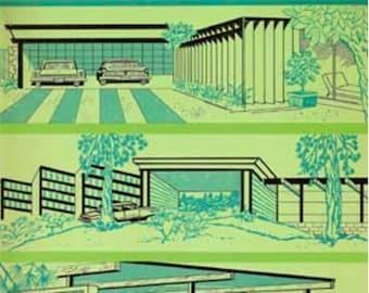 1960s Mid Century Modern Carports And Garages Design Book