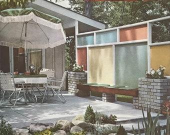 Landscape Planning Better Homes Gardens book 1963 Mid Century Modern Patio Design