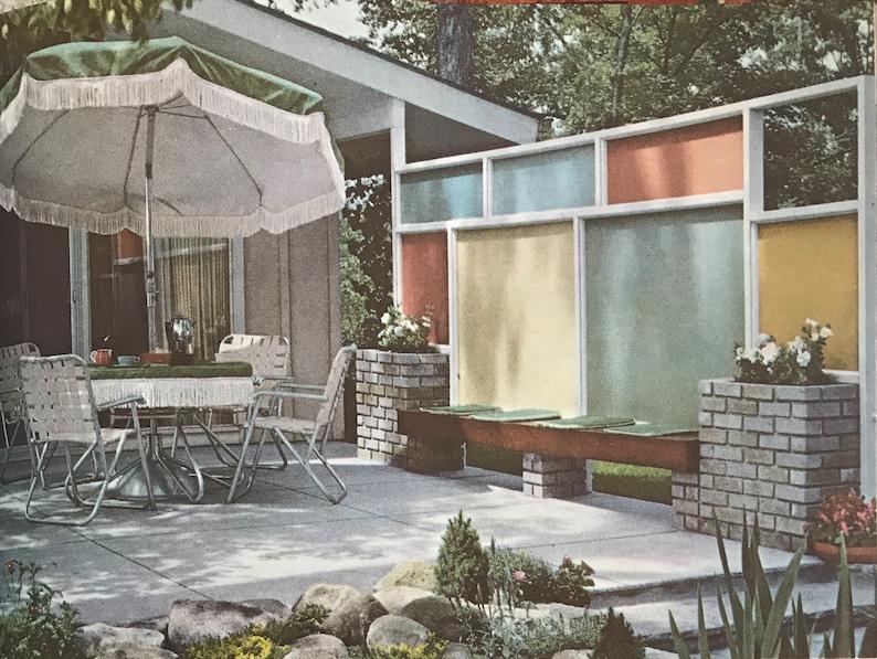 Landscape Planning Better Homes Gardens book 1963 Mid Century image 0