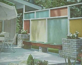 1963 Landscape Planning Mid Century Modern Patio Design Better Homes Gardens book