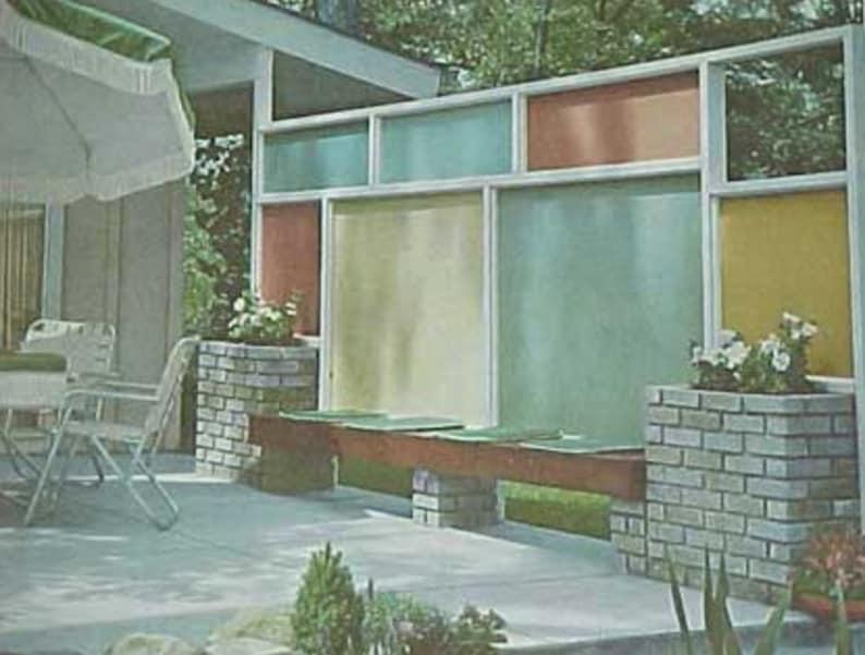 1963 Landscape Planning Mid Century Modern Patio Design Better image 0