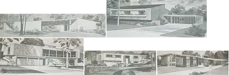 185 Homes MID CENTURY Modern House Plans Ranch Atomic Mod ...