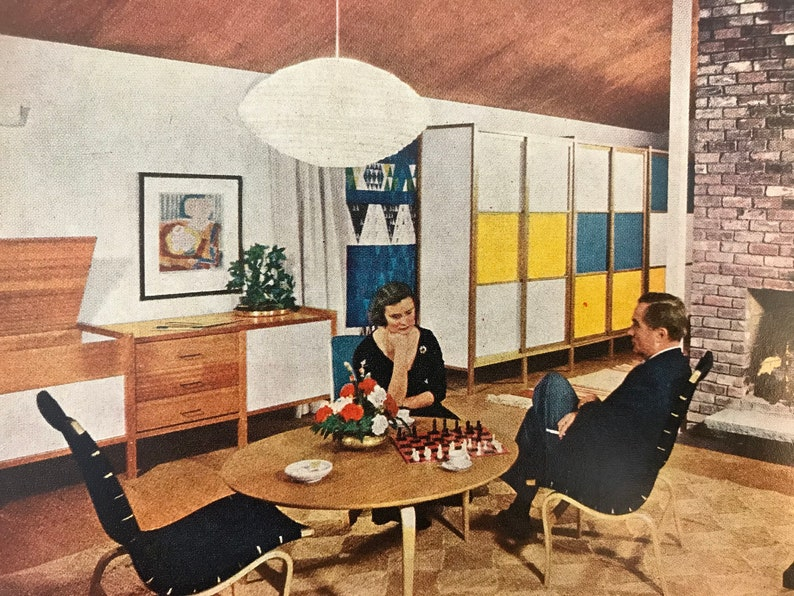 1961 Mid Century Modern Decorating Book, Better Homes And Gardens Wall Decor