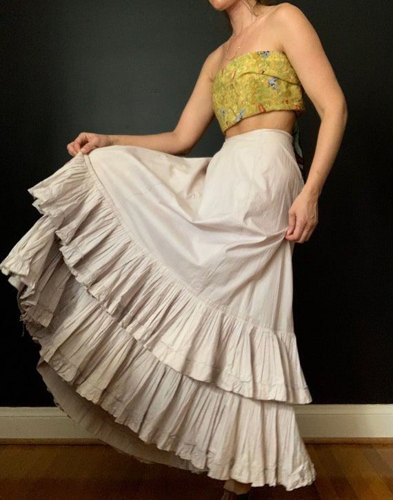 Edwardian Tiered Ruffles Petticoat