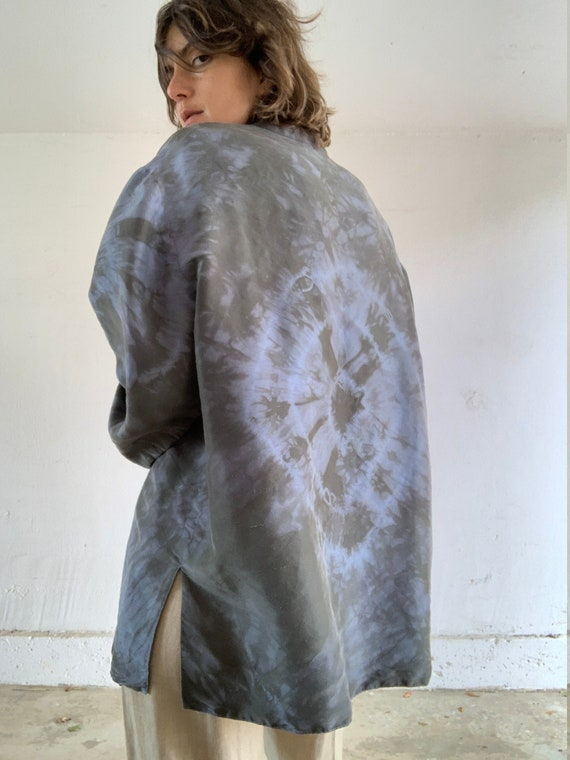 Hand Dyed Raw Silk Blouse