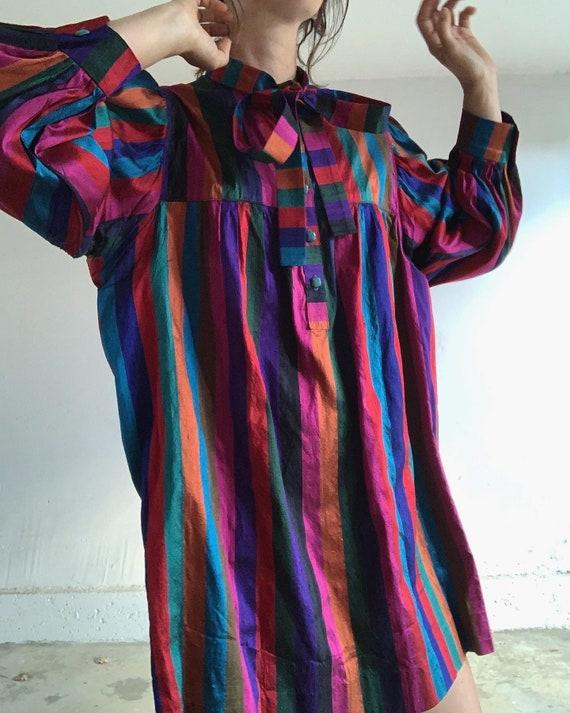 Raw Silk Rainbow Blouse
