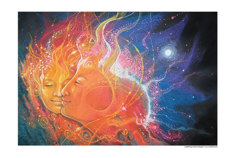Soulmate/Twinflame LOVE  Art Print  Fine Art Poster  image 0
