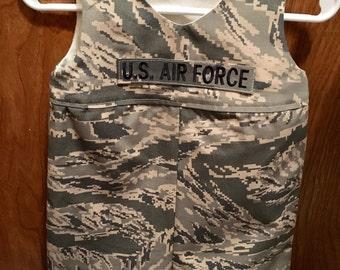 Military Kids Short Romper - Army,  Navy, Marines, Air Force, Coast Guard