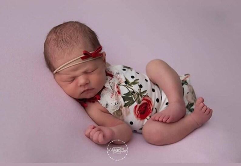Gracie Newborn Romper,photography prop