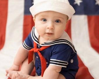 Littlest Sailor Hat - Military Sailor Hat - Newborn Sailor