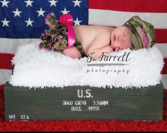 Army, Marine, Air Force, Coast Guard Ruffle Diaper Cover