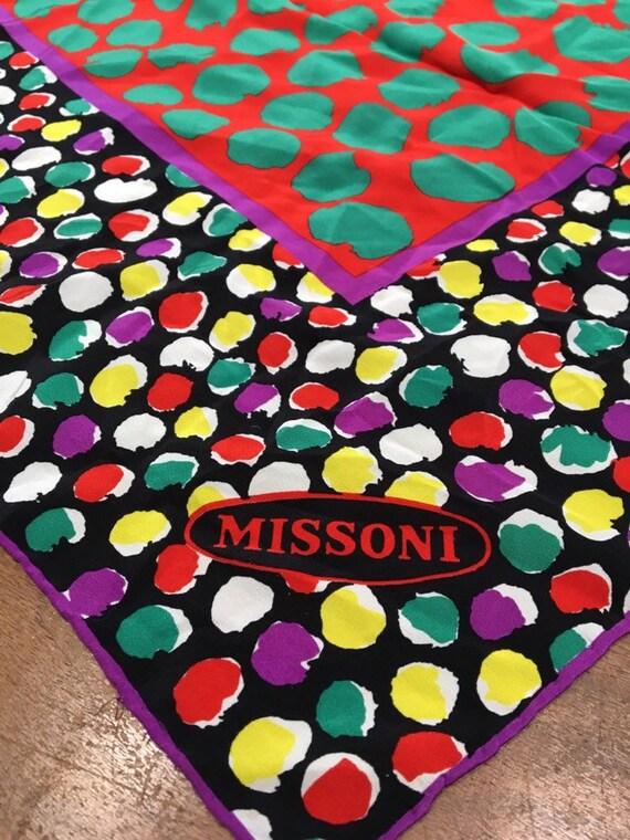 Vintage Missoni scarf - designer scarf - silk scar